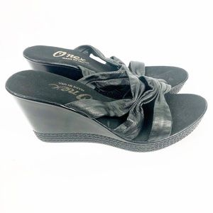 Onex Sandals Shoes Wedge Shoes Black Size 9 M